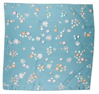 Hermes Flower Power Silk Scarf