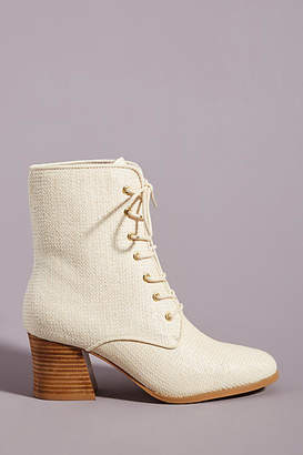 Intentionally Blank Molly Woven Lace-Up Ankle Boots