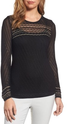Women's Nic+Zoe Starboard Cross Back Sheer Knit Top $148 thestylecure.com