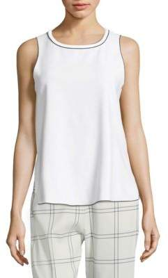 Piazza Sempione Trimmed Sleeveless Top