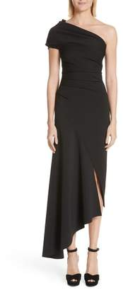 Oscar de la Renta Asymmetrical One-Shoulder Dress