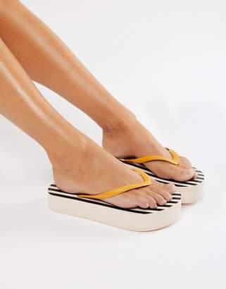 Weekday Stripe Flatform Flip Flop