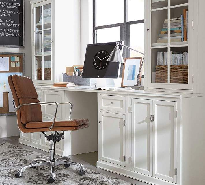 Logan Small Office Suite with Cabinet Doors