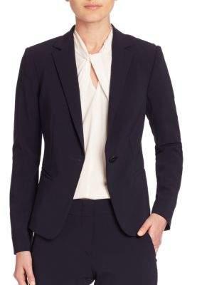 Armani Collezioni One-Button Wool Jacket