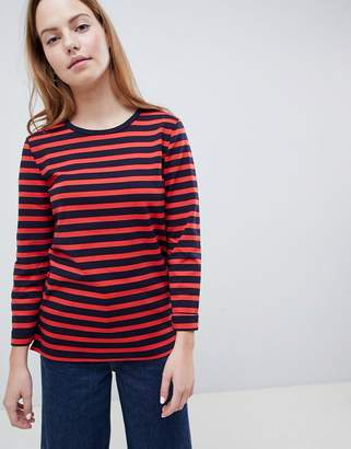 Only Anya 3/4 Sleeve Striped Sweatshirt