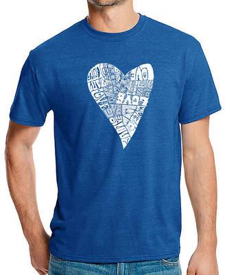 Lots of Love LOS ANGELES POP ART Los Angeles Pop Art Men's Big & Tall Premium Blend Word Art T-shirt