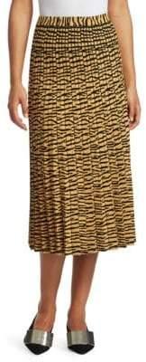 Proenza Schouler Pleated Knit Tiger Midi Skirt