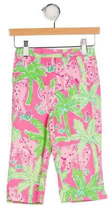 Lilly Pulitzer Girls' Floral Print Pants