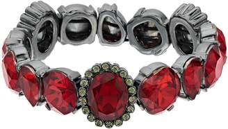 Vera Wang Simply Vera Red Simulated Crystal Stretch Bracelet