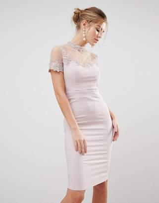 Little Mistress High Neck Bodycon Dress