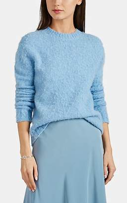 Helmut Lang Women's Brushed Wool-Blend Crewneck Sweater - Lt. Blue