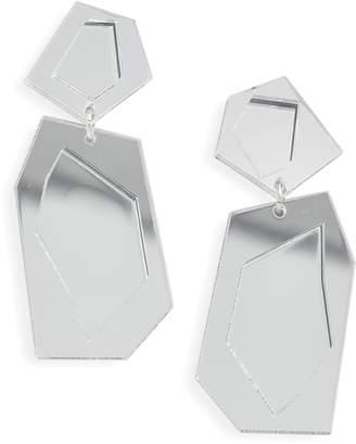 Lova THE ACCESSORY JUNKIE Double Mirror Earrings