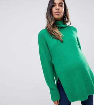 Asos Nursing DESIGN Maternity Nursing chunky sweater in oversize with high neck