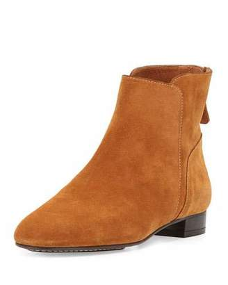 Delman Myth Suede Ankle Boot, Teak $398 thestylecure.com