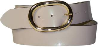 Camilla And Marc FRONHOFER Patent leather belt with a gold-tone oval buckle, 1.5'/4 cm, real leather, Size:, Color: