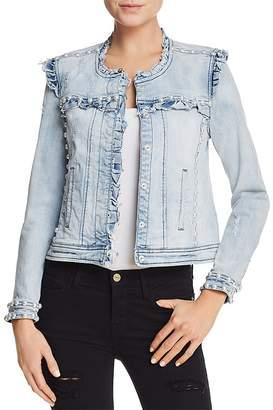 Generation Love Evie Ruffled Embellished Denim Jacket