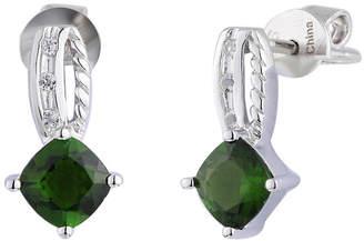 FINE JEWELRY Genuine Green Chrome Diopside Sterling Silver Drop Earrings