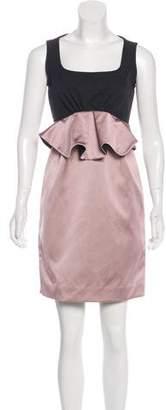 Zac Posen Sleeveless Silk-Blend Dress