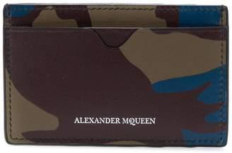 Alexander McQueen camouflage print cardholder