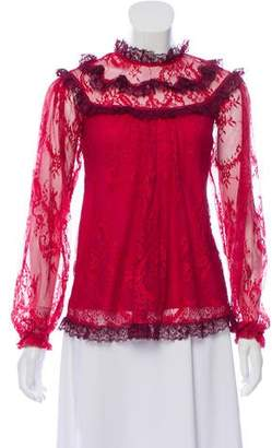Needle & Thread Lace Long Sleeve Top