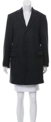Bottega Veneta Wool Plaid Coat