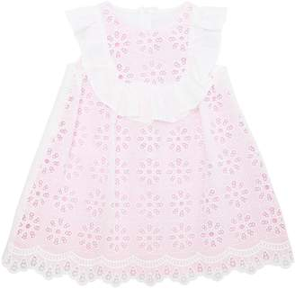 Simonetta Cotton Eyelet Lace & Milano Jersey Dress