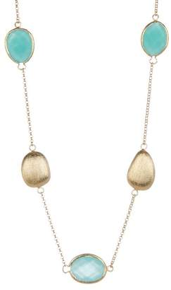 Rivka Friedman Mint Chalcedony Crystal Satin Station Necklace