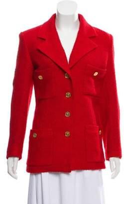 Chanel Textured Jacket Red Textured Jacket
