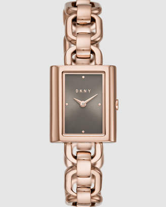 DKNY Uptown Rose Gold-Tone Analogue Watch