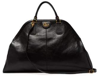 Gucci Re(belle) Large Top Handle Leather Tote - Mens - Black