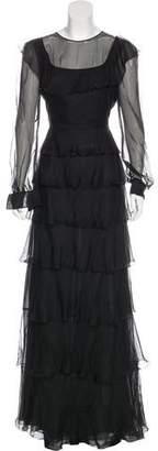 Valentino Silk Ruffled Dress