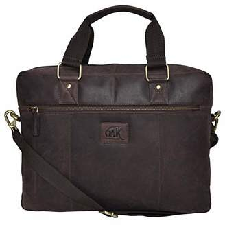 Geniuine Leather Messenger Laptop Bag- Premium Office Briefcase Professional work College Mens Womens Side Bags ()...