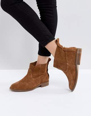 Hudson London Odina Tan Suede Ankle Boots