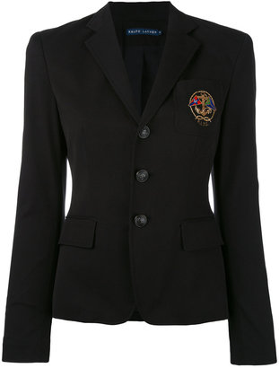 embroidered emblem blazer