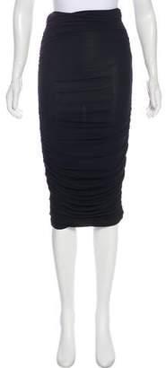 Celine Ruched Midi Skirt