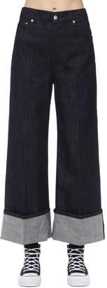 J.W.Anderson Cotton Denim Jeans W/ Turn-up Cuffs