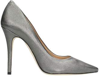 The Seller Pointed Toe Silver Wash Leather Pumps
