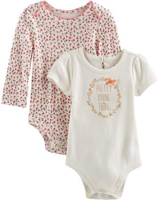 Baby Starters Baby Girl 2-pk. Floral Bodysuits