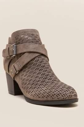 Indigo Rd Sablena Laser Cut Ankle Boot - Taupe