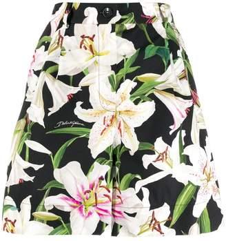 Dolce & Gabbana poplin floral pattern shorts