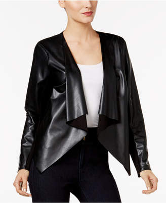 Thalia Sodi Lace-Back Faux-Leather Jacket, Created for Macy's $79.50 thestylecure.com
