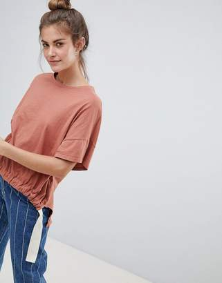 Pull&Bear organic tee in rust (join life)