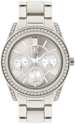 INC International Concepts Women's Silver-Tone Bracelet Watch 40mm IN001S, Only at Macy's $49.50 thestylecure.com