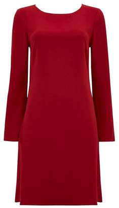 Wallis Berry Studded Sleeve Shift Dress