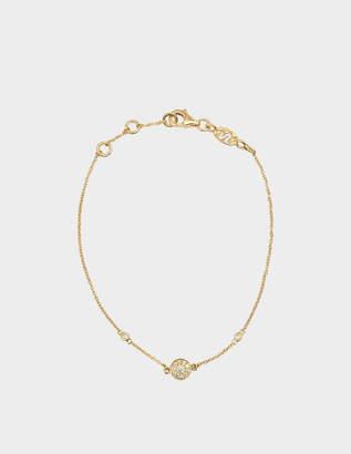 Vanessa Tugendhaft Yellow Gold and Diamond Round Charm Bracelet