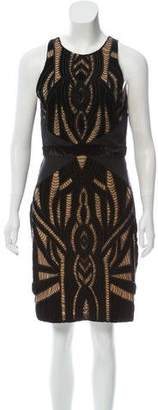 Nicole Miller Silk Bead-Accented Dress w/ Tags