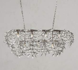Pottery Barn Bella Crystal Rectangular Chandelier