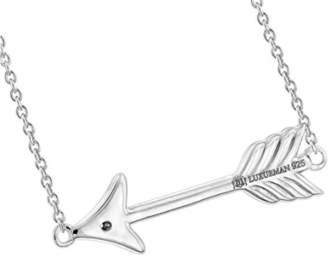 925 Sterling Silver Diamond Arrow Pendant Necklace