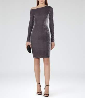 Reiss Xeni - Velvet Dress in Grey
