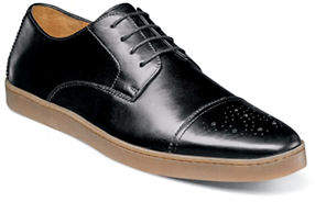 Stacy Adams Travers Almond Toe Leather Oxfords